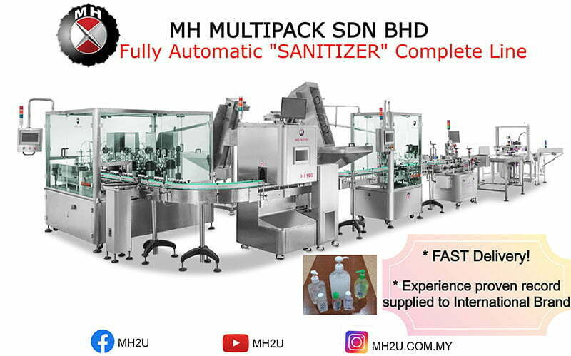 Fully Auto Sanitizer Complete Line Filling Machine